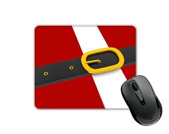 Christmas Theme Santa Claus Suit and Belt (SQUARE) Mouse Pad