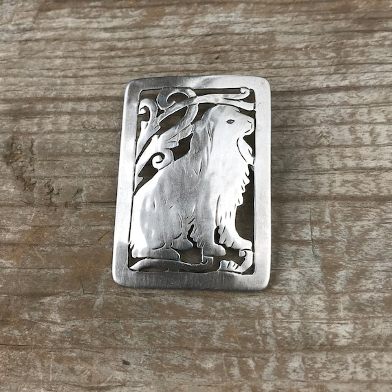 Sterling Silver Stavre Gregor Panis Dog Pin