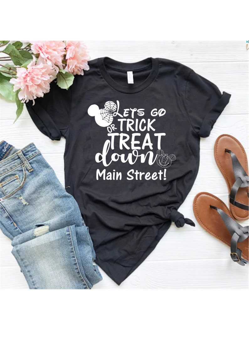 08a99276 Disney Main Street Disney Halloween shirts Minnie and Mickey | Etsy