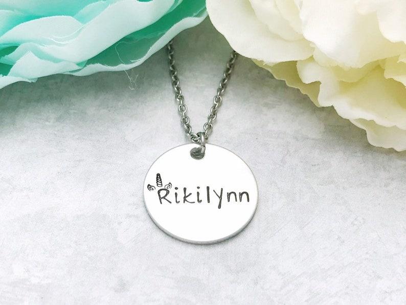 Personalized Unicorn Name Necklace