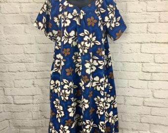 017fe5776aa4 Vintage Howie Hawaiian Dress Womens S Small Floral Muumuu Hawaii Made Aloha