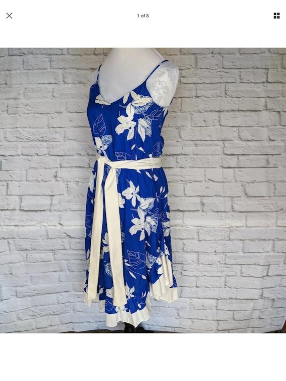 c3a6d70ae7d0 Vintage Jodi Michaels JR Size 7 / 8 Hawaiian Dress Floral | Etsy