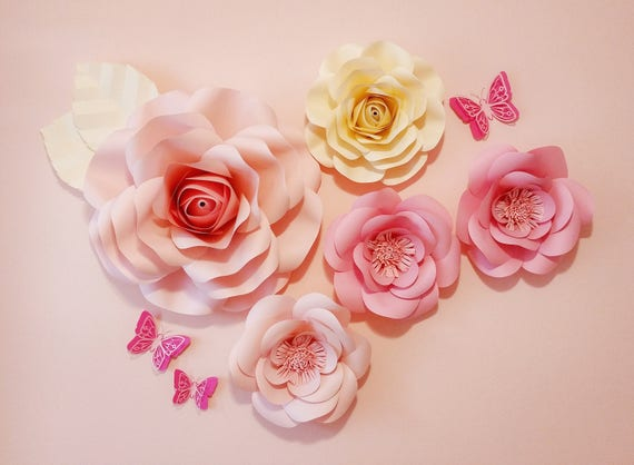 Flower Wall Birthday Party Decor Paper Flowers Nursery