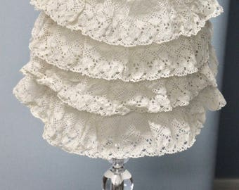 Lace lamp shade etsy popular items for lace lamp shade 946 results quick view lace lamp shade aloadofball Image collections