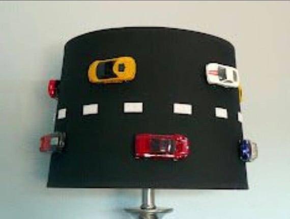 Race car lamp shade etsy aloadofball Choice Image