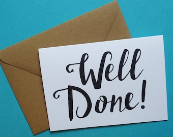 Well Done Greetings Card