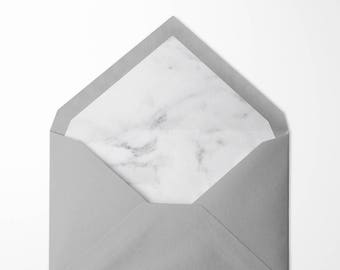 Marble lined envelopes - pack of 10