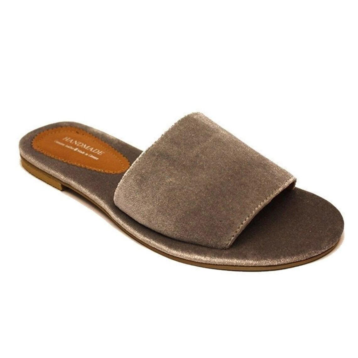 Luxury Velvet Anatomic Non Slippery Handmade Greek Sandals - Big Sale bts2Q