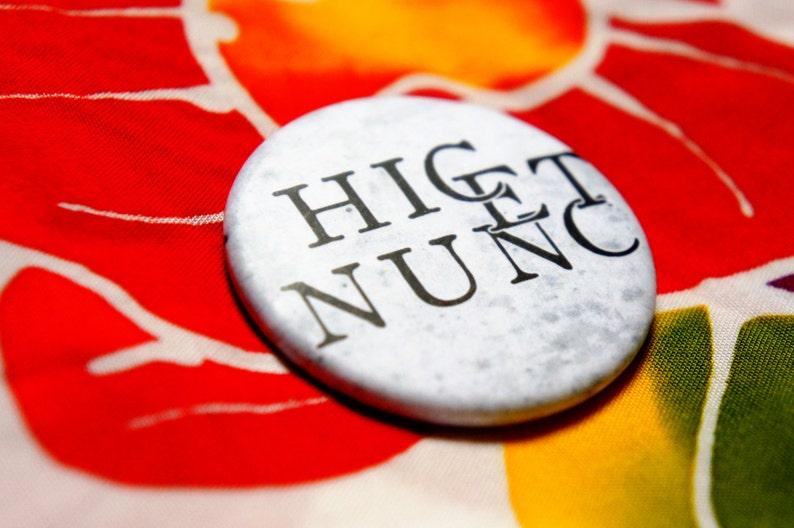 Badge Pin Hic Et Nunc Ian Somerhalder Damon Etsy