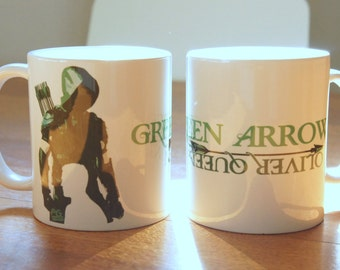 "Mug ""GREEN ARROW"" - ARROW / Oliver Queen / Green Arrow / Stephen Amell"