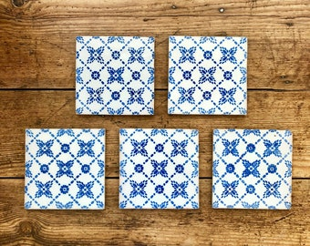 Blue and white tiles | Etsy