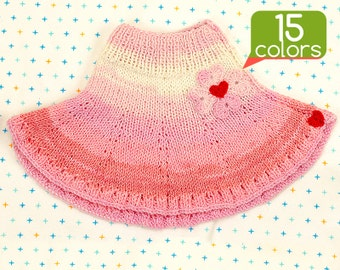 Baby skirt - Crochet baby skirt made from special yarn. Unique design, free gift wrapping, 15 colors!