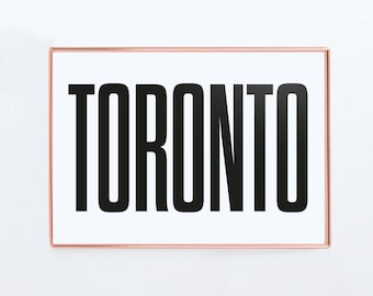 Toronto, Graphic art, canada, Black and White Art Typography Poster, Toronto wall art, Poster, Toronto prints