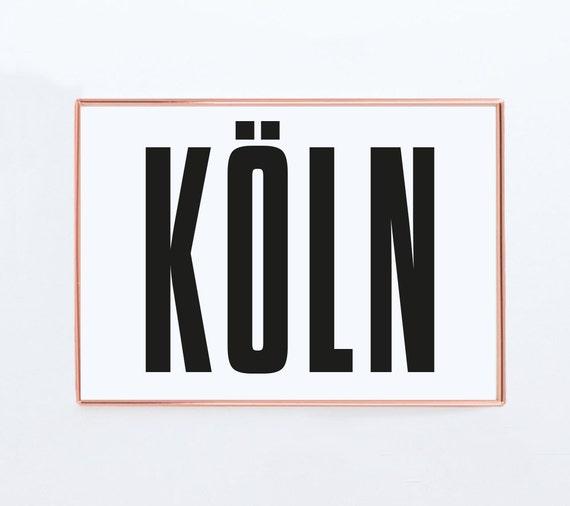 K ln poster k ln deutschland grafik design poster print etsy for Grafikdesign koln