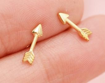 Silver Arrow Earrings  Small Everyday Simple Arrow Earrings Gift for Women Archery Lover Gift Bridesmaids Jewelry Silver Dangly Dangle Boho