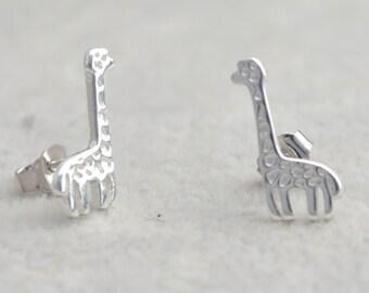 Sterling Silver Little Giraffe Stud Earrings e22