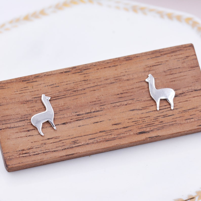 26. Sterling Silver Llama Stud Earrings