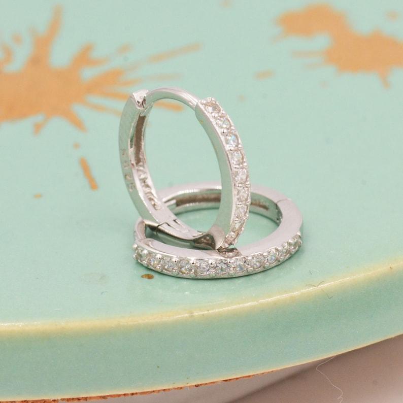 Real Pearls Genuine Freshwater Baroque Pearls CZ Crystal Huggie Hoop Earrings in Sterling Silver with Detachable Pearl Charms