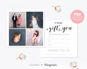 Gift Certificate Template Photography Mini Session Gift Card Etsy