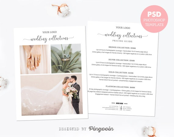Price List Template Wedding Photography Pricing