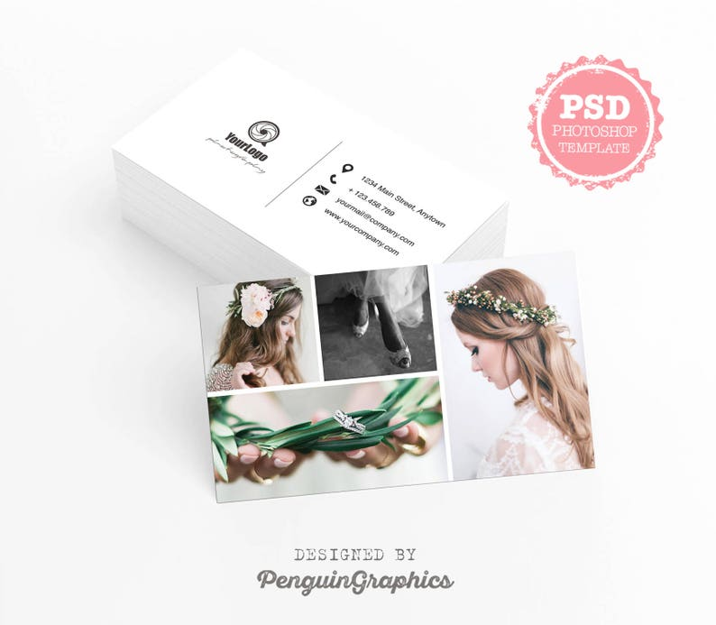 Business Card Template Photography Marketing