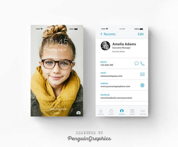 Visitenkarte Iphone Themen Design Moderne Individuelle Visitenkarte Personalisierte Visitenkarte Druckbare Visitenkarte Digitale Dateien Bc02