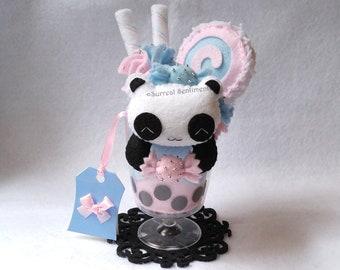 553a9e8ac6c Cotton Candy Bubble Tea Panda Plush. Boba Tea Plush
