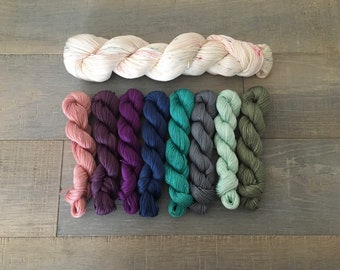 Spring Fling 3 color kit on 100/% pima cotton fingering