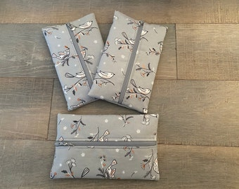 Christmas dove themed notions pouch with dove progress keeper