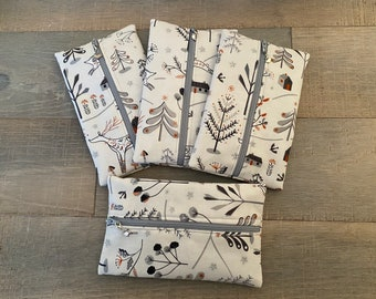 Winter wonderland notions pouch with dove progress keeper