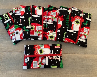 Christmas camper notion pouches with camper progress keeper