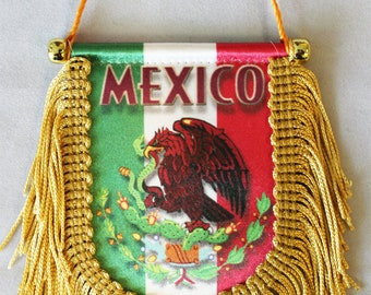 Mexico Window Hanging Flag (Shield)