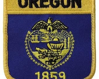 Oregon Flag Shield Patch