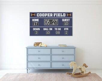 Merveilleux Football Scoreboard Sign Football Scoreboard Banner Football Decor Football  Party Sign Football Nursery Football Bedroom Sports Nursery Sign