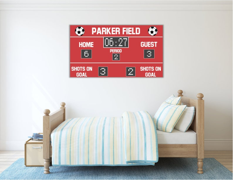 Personalized Soccer Scoreboard   Custom Soccer Scoreboard Sign   Soccer  Decor   Personalized Soccer Scoreboard Print   Soccer Birthday Party