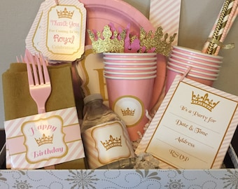 Princess Party Box - Pink and Gold