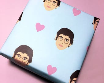 Louis Theroux Wrapping Paper - BBC - Gift Wrap - Wrapping Paper - Louis Theroux - Documentary