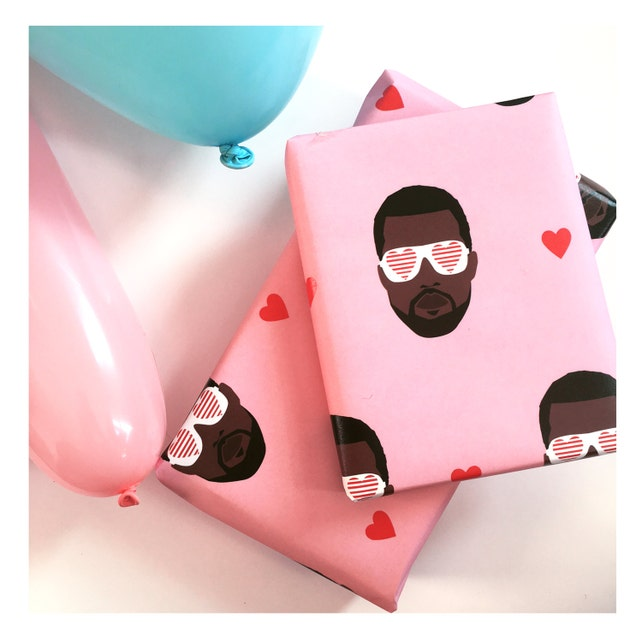 kanye west wrapping paper hip hop themed wrapping paper etsy