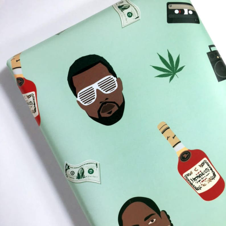 cfcaf964b306f Rapping Paper - Hip hop wrapping paper - Snoop Dogg - Kendrick Lamar -  Kanye West - Jay Z - Hip hop - Gift Wrap