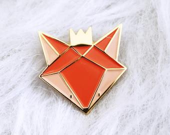 pins fox - fox enamel lapel pin - fox Badge - pins - enamel pins gold metal - accessory and gift woman - Kid mode