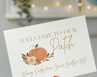 Welcome to our patch // Pumpkin // Personalised print // A5 print // Autumn decor // Fall // Pumpkin patch
