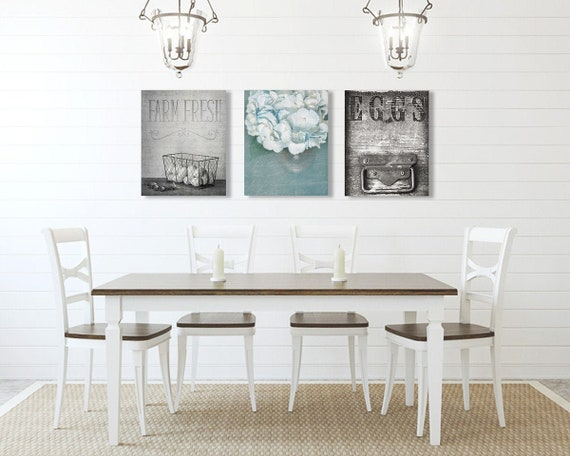 Dining Room Wall Art Farmhouse Wall Decor Set Of Three Etsy