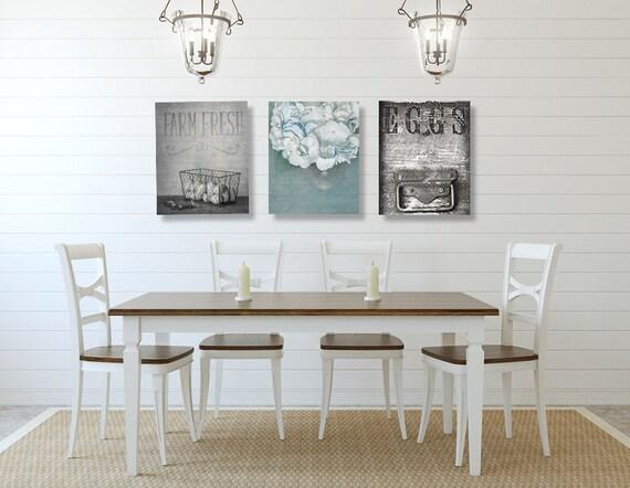 Dining Room Wall Art Farmhouse Decor SET Of THREE