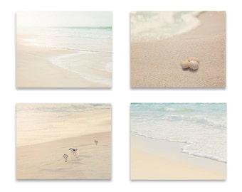Beach Wall Art, Bathroom Wall Decor, SET of FOUR Prints or Canvases, Beach Photography, Bathroom Wall Art, Beach Wall Decor, Bathroom Art
