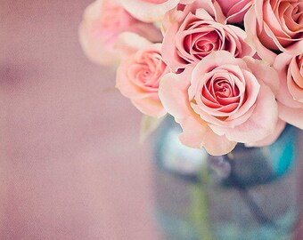Pink Rose Photo, Flower Print, Girls Room Decor, Rose Wall Art, Bedroom Decor, Wall Art for Bedroom, Pink Bathroom Art, Flower Photo