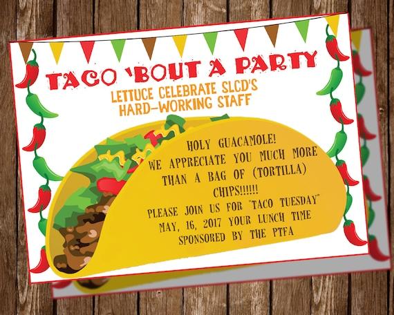 taco party invitation etsy