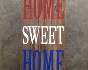 Home Sweet Home Reclaimed Wood Sign
