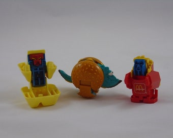1980's-90's McDonald's Dinosaur Changeables Transformer Happy Meal Toys