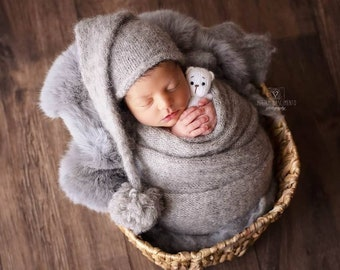 Newborn props,Newborn outfit,Newborn set,Newborn wrap,newborn hat,photo props,photography props,Photography prop,alpaca and silk,wrapand hat