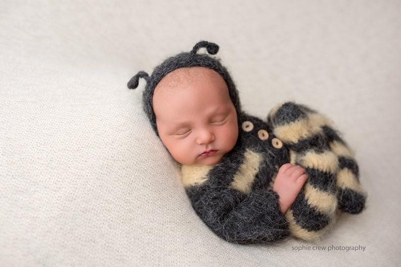 e3da7c0c2108a Newborn props,Bee outfit,Newborn bee,Photo props ,Photography props,  Newborn romper,Newborn hat,Alpaca outfit,newborn photo prop,knits